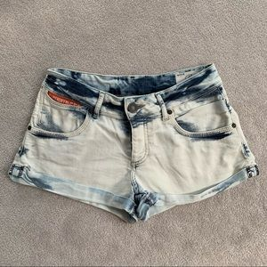 2/$18 SUPERDRY Womens Denim Acid Wash Shorts